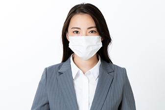 マスク着用・お客様用マスク常備